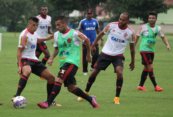 Canteros e Mugni, treino Flamengo (Foto: Gilvan de Souza / Flamengo)