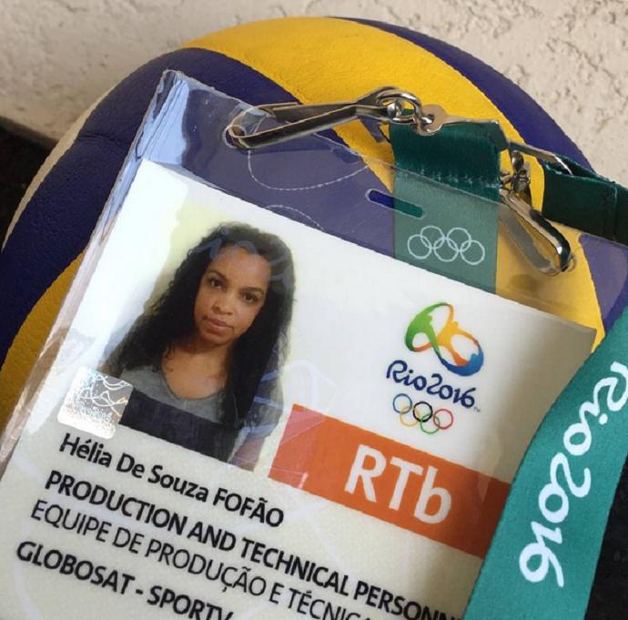 Fofão posta credencial dos Jogos Rio 2016 (Foto: Reprodução / Instagram)