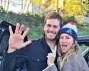 Gisele comemora vitória dos Patriots ao lado do marido Tom Brady