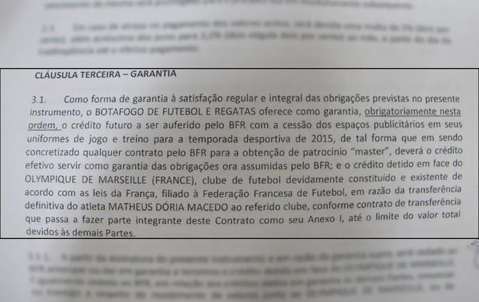 botafogo contrato (Foto: Reprodução)