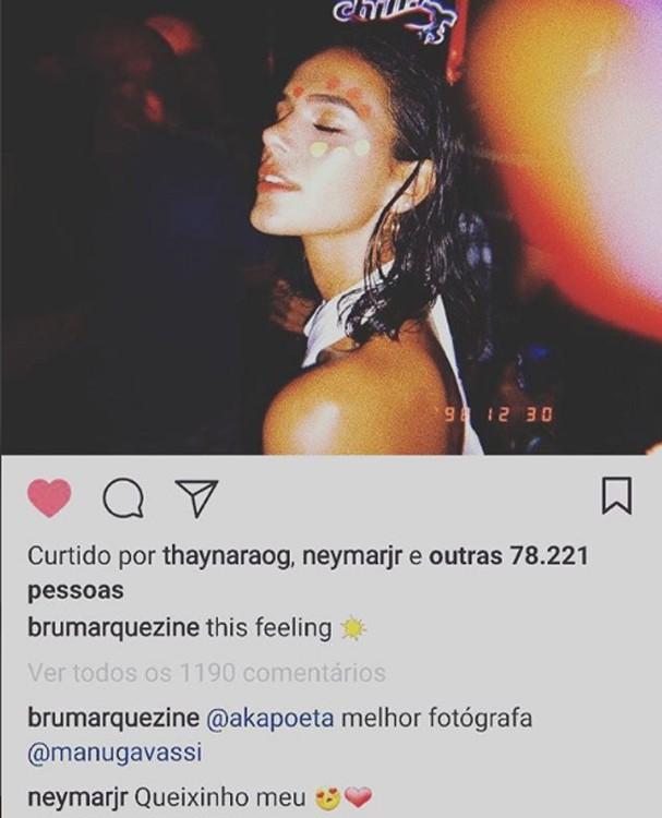 Neymar manda recado para Marquezine (Foto: Instagram/Reprodução)