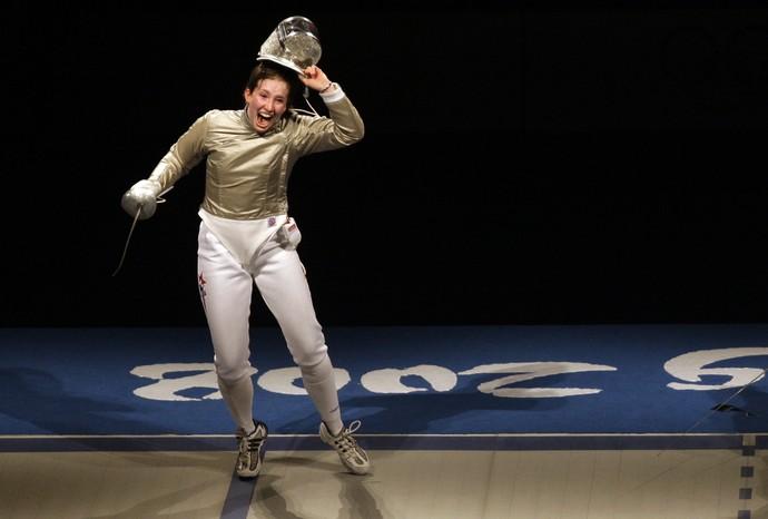 A russa Sofiya Velikaya - esgrima (Foto: Associated Press)