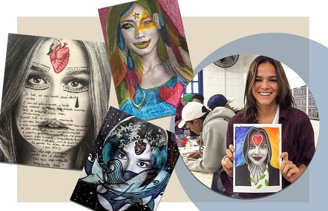 Marina Ruy Barbosa e Bruna Marquezine: do bem (Foto: Arte Vogue Online)