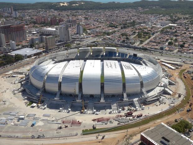 Estádio das Dunas, em Natal, em foto feita em dezembro de 2013 (Foto: Divlugação/Arena Das Dunas)
