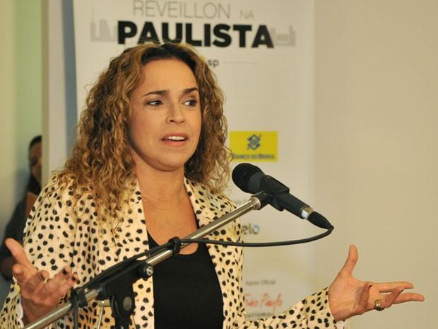 Daniela Mercury durante coletiva de imprensa nesta sexta-feira (14) (Foto: Divulgação/Fernando Pereira/Secom)