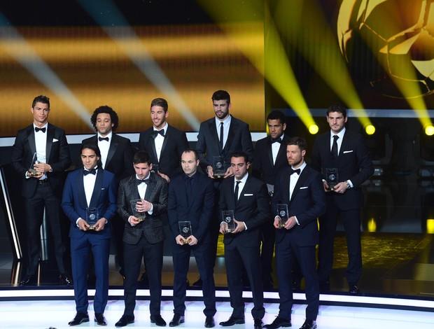 SELEÇÃO DA FIFA fifa prêmio melhor do mundo bola de ouro (Foto: AFP)
