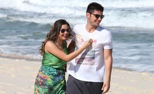 André e Bárbara vivem melhores momentos juntos e planejam o futuro (Pedro Curi/TV Globo)