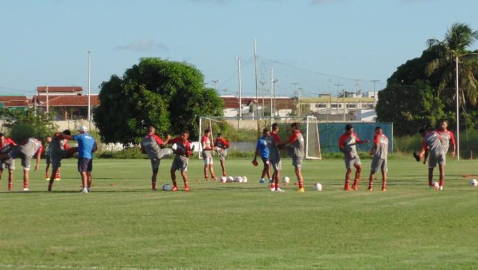 América-RN - treino - jogadores - CT (Foto: Carlos Arthur da Cruz)