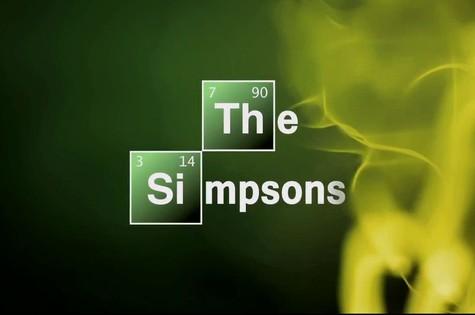 Abertura de 'Os Simpsons' em homenagem a 'Breaking bad' (Foto: Reprodução da internet)