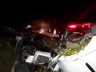 Colisão entre dois caminhões mata homem carbonizado no Ceará