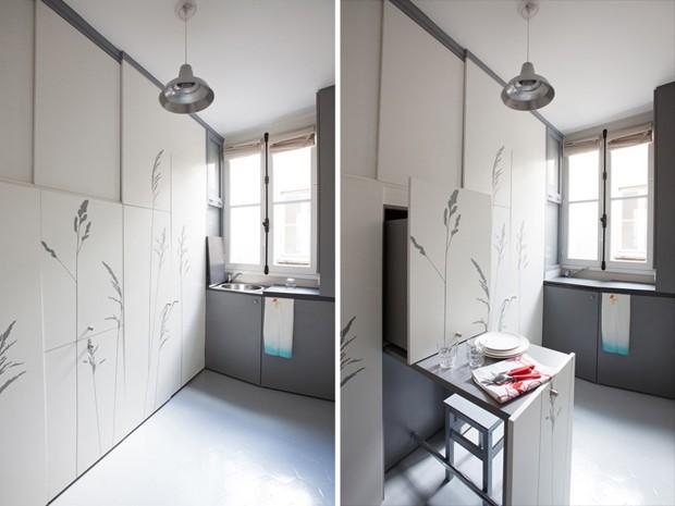 Vista da cozinha (Foto: Reprodução/DesignBoom)