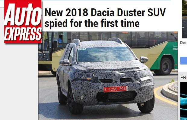Dacia Duster flagrado pelo site Auto Express (Foto: Reprodução)
