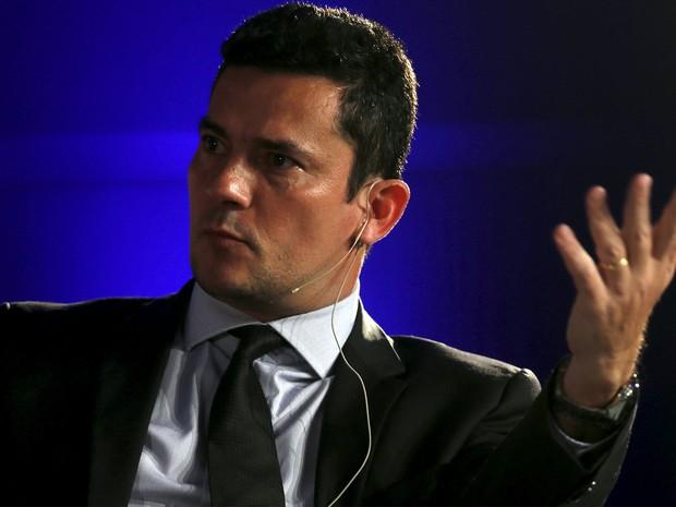 Sérgio Moro durante evento da Economist; juiz diz que fatiamento da Lava Jato não afeta investigações (Foto: Reuters)