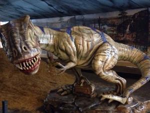 Dinossauros de até 2,5 m estarão expostos em Joinville (Foto: Divulgação)