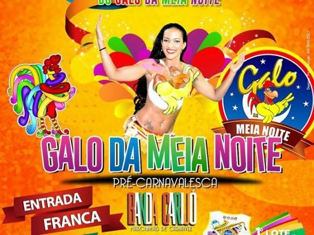 Ensaio do Galo da Meia Noite será realizado neste sábado (18), em Porto Velho (Foto: Galo da Meia Noite/Facebook Reprodução )
