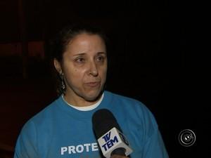 Cintia é dona do santuário de animais em São Roque (Foto: Reprodução/TV TEM)