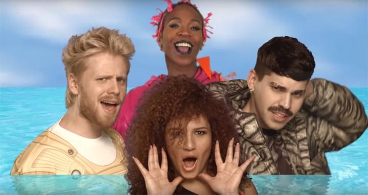 """Banda Uó se une a Karol Conká em clipe divertido de """"Dá1LIKE"""" (Foto: Reprodução)"""