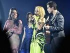 Joelma canta com os filhos na gravação do primeiro DVD da carreira solo