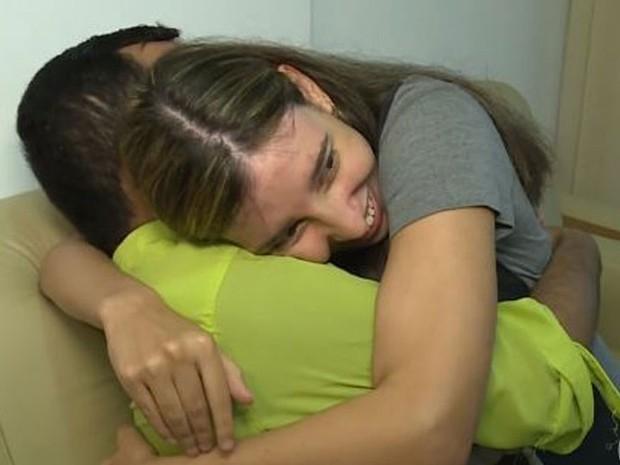 Casal se encontrou pela primeira vez após dois anos (Foto: Reprodução/TV Globo)
