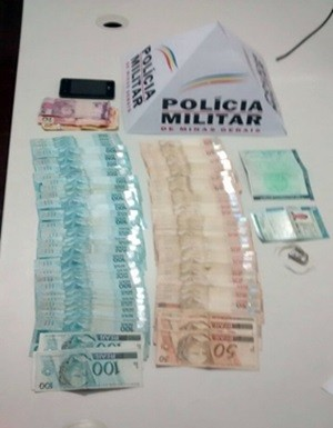 Polícia Militar apreende R$ 7,2 mil em dinheiro escondido em carro em Campestre (Foto: Polícia Militar)