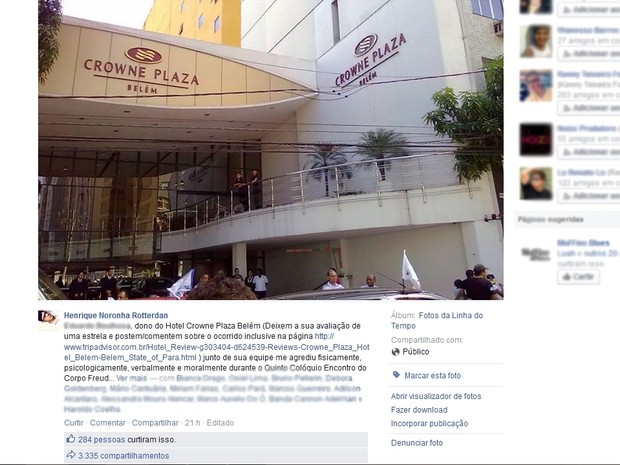 Henrique recebeu apoio de internautas e a postagem sobre o episódio foi amplamente compartilhada. (Foto: Reprodução/Facebook)