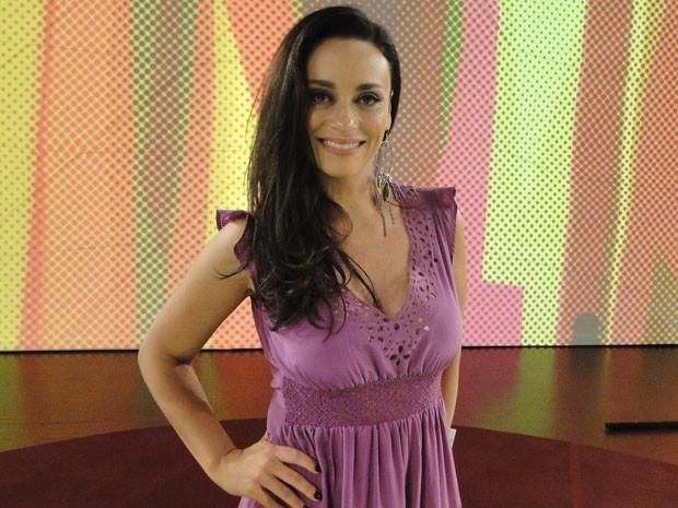 Suzana Pires fala sobre nu: 'O corpo não é mais um peso' (Foto: Encontro com Fátima Bernardes/ TV Globo)