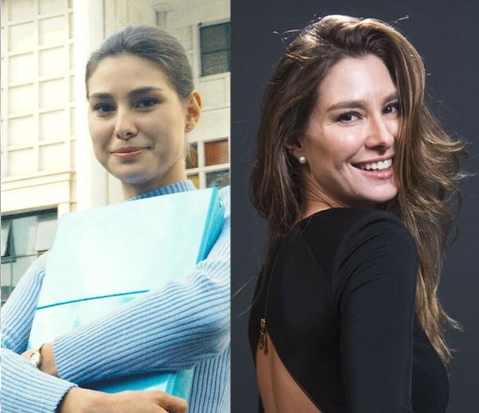 Lavínia Vlasak foi Lígia, que era apaixonada por Rodrigo desde pequena. Atualmente ela está no ar como Natasha, ex-mulher de Arthur (Fabio Assunção) em 'Totalmente Demais'  (Foto: CEDOC/TV Globo e Renato Rocha Miranda/TV Globo)