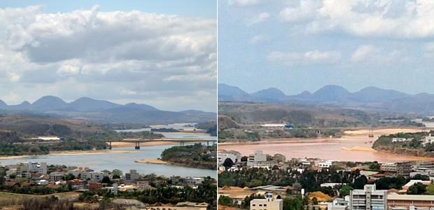 G1 - Lama de barragem muda paisagem do Rio Doce