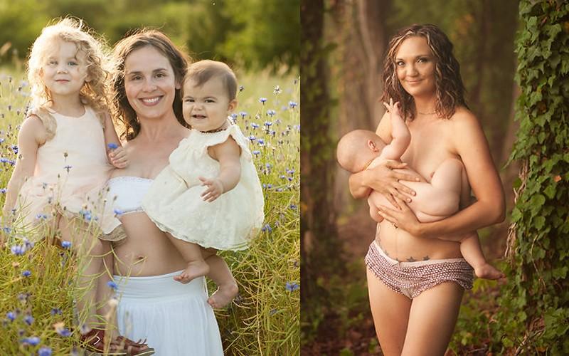Natalie, Amber e seus filhos. (Foto: Erin White)