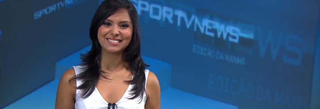 Em primeira ida à nutricionista, apresentadora  Aurora Bello descobre mitos sobre magreza (Reprodução SporTV)