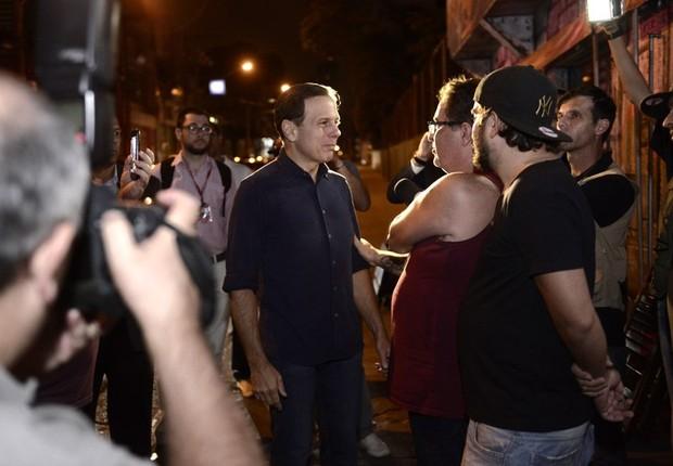 O prefeito de São Paulo, João Doria (PSDB), participa de blitz da Lei do Psiu (Foto: Cesar Ogata/SECOM)