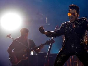 Queen toca em São Paulo (Foto: Flavio Moraes / G1)