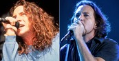 Vedder, Patton e D2 se apresentaram  (Anna Krajec/Michael Ochs Archives/Getty Images e Flavio Moraes/G1)