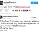 """Valentina quer luta em julho e Amanda avisa: """"Desafiante não escolhe dia"""""""