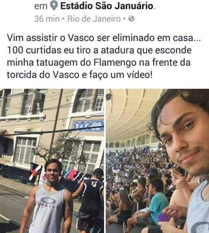 Twitter torcedor vasco (Foto: Reprodução / Twitter)