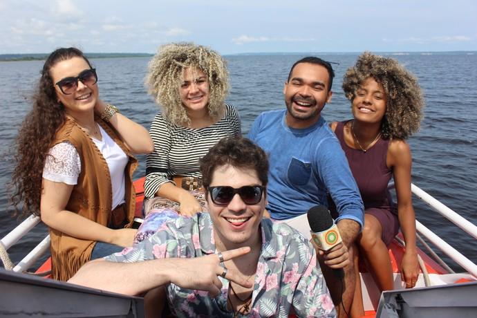 Ex-participantes do 'The Voice Brasil' participam do 'Paneiro' (Foto: Katiúscia Monteiro/ Rede Amazônica)