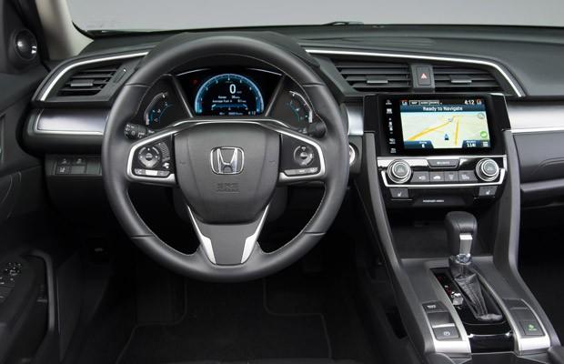 Honda Civic interior (Foto: Divulgação)