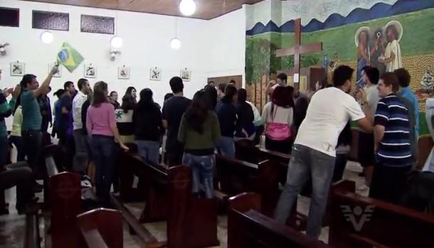 Encontros realizados antes da Jornada Mundial da Juventude (Foto: Reprodução/TV Tribuna)