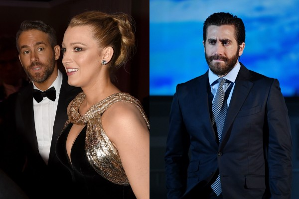 Ryan Reynolds, Blake Lively e Jake Gyllenhaal (Foto: Getty Images)