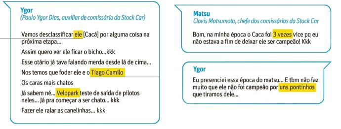 Conversa entre Clovis Matsumoto e Paulo Ygor Dias (Foto: Reprodução/Folha)