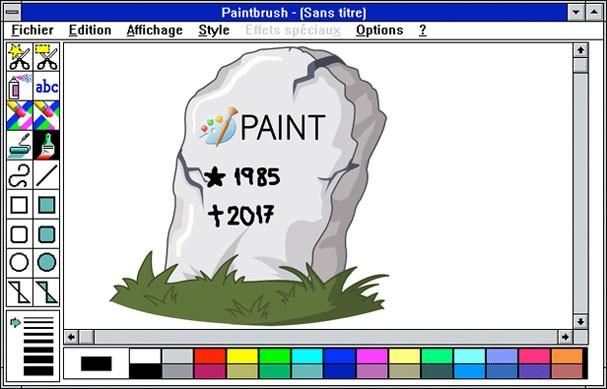 Paintbrush em um de seus primeiros layouts (Foto: Reprodução)
