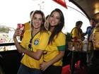 Famosos torcem em jogo Brasil X Alemanha no estádio Mineirão, em Belo Horizonte