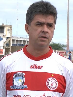 Marco César, presidente do Esporte de Patos (Foto: Reprodução / TV Paraíba)