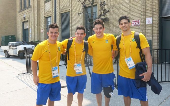 Seleção ginástica Pan de Toronto Caio Souza, Lucas Bittencourt, Arthur Nory e Francisco Barreto (Foto: Amanda Kestelman)