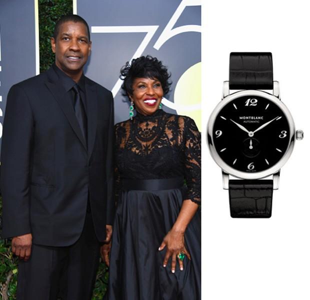 O ator Denzel Washington usou um Montblanc Star Classique ao de sua mulher, Pauletta Washington (Foto: Divulgação)