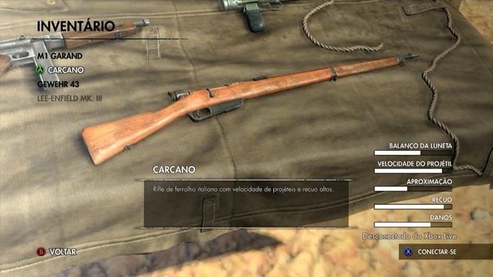 Escolha o rifle (Foto: Reprodução/Murilo Molina)