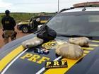 Trio é preso no Cantá com 3 kg de maconha  (PRF/Divulgação)