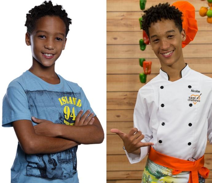 Antes e depois de Nicollas: em 'Cheias de Charme' e no 'Super Chefinho' (Foto: Renato Rocha Miranda / TV Globo)