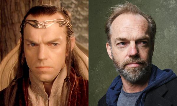 Hugo Weaving como Elrond e atualmente (Foto: Divulgao)