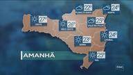Veja como ficará o tempo em todas as regiões de SC nesta quinta-feira (23)